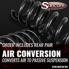 car suspension spring air to coil spring conversion kit with gas shock absorbers for