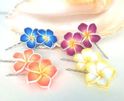 flower hair pins hawaiian hair pins plumeria hair pins bobby by natashaaloha on