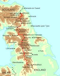 Manchester England Map by Pennine Way Walking Holidays And Hiking Tours In England