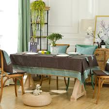 yazi mediterranean style coffee tablecloth dust proof rectangle