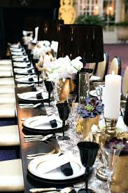 black and white table settings black and white table settings black silver and white table setting
