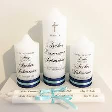 christening candles baptism christening candle set including godparent grandparent