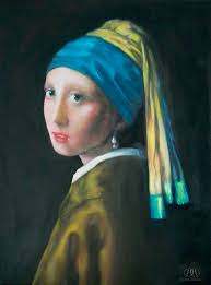 painting girl with pearl earring girl with the pearl earring reproduction painting by williams