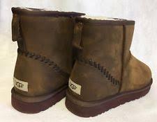 s ugg australia mini deco boots ugg australia mini deco leather boot 1003945 black 100