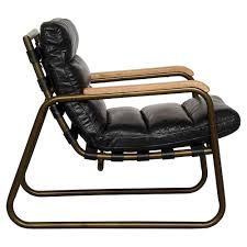 Black Leather Armchairs Fred Industrial Loft Black Leather Armchair Kathy Kuo Home