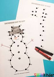 snowman dot to dot abc u0027s simply kinder