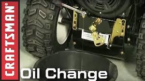 snowblower maintenance oil change craftsman youtube