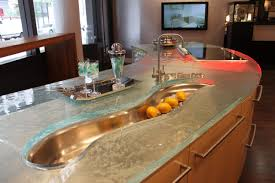 Bathroom Countertop Decorating Ideas by Glass Kitchen Countertops Beautiful Kitchen Design Countertop