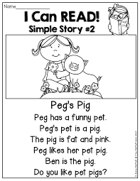 i can read simple stories with basic sight words and cvc words