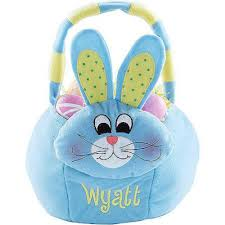 plush easter basket personalized plush easter basket blue bunny walmart
