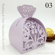 Wedding Candy Boxes Wholesale Scarlet Hollow Flowers Design Wedding Favor Holders Candy Boxes