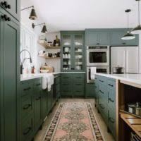 colored cabinets for kitchen 10 best kitchen cabinet paint colors from the experts the