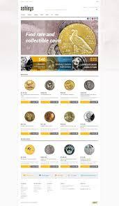 website template 47875 ashleys collectible coins custom website