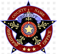 sheriff u0027s badge police emblem with star vector image 62157