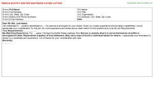 waitress job cover letter buffet waiter waitress job title docs