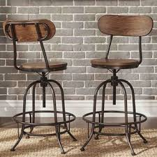 Vintage Industrial Bar Stool Shop For Tribecca Home Berwick Iron Industrial Adjustable Counter