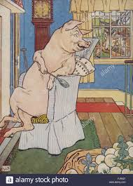 pigs wolf window pig