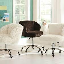 Desk Chais Ivory Furlicious Wingback Desk Chair Pbteen