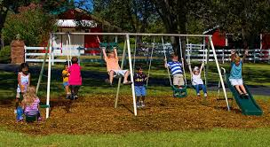 Flexible Flyer Lawn Swing Frame by Amazon Com Flexible Flyer Fun Fantastic Ii Swing Set Sports
