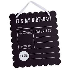 birthday chalkboard birthday chalkboard sign mud pie