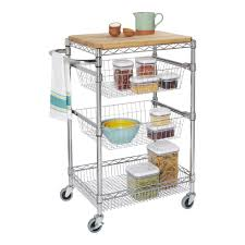 kitchen island or cart 18 x 24 kitchen island cart with butcher block storables