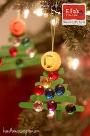 craft stick tree ornaments on as we grow