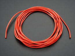 silicone cover stranded core wire 2m 26awg red id 1877 0 95