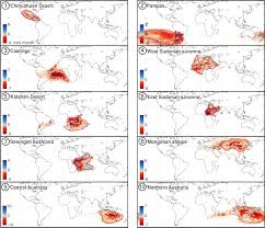 Kalahari Desert Map Contribution Of Water Limited Ecoregions To Their Own Supply Of