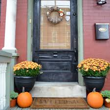 Home Decor With Plants by Fall Porch Decor With Plants And Pumpkins Unskinny Boppy Loversiq