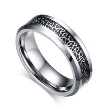 wedding rings for him and mprainbow wedding rings carbon fiber inlaid celtics knot