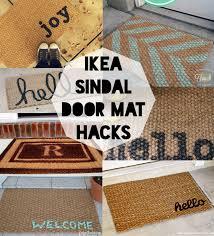 Entryway Door Mats Ikea Sindal Door Mat Hacks Door Mats Doors And Craft