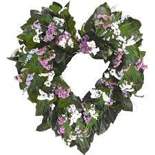 heart wreath dried beautiful flower heart wreath 22 inch dried wreath
