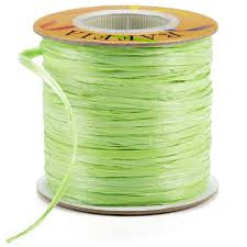 raffia ribbon apple green matte raffia ribbon the container store
