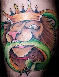 viper snake tattoo on leg tattooshunter com