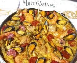 recettes cuisine marmiton paëlla fruits de mer chorizo et poulet de patou recette de paëlla