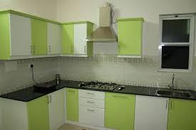 kitchen fresh minimalist contemporary model kitchen design green