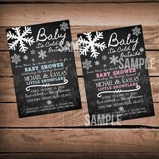 chalkboard baby it u0027s cold outside baby shower invitation