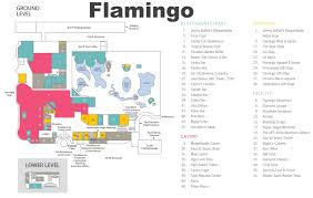 Las Vegas Hotel Map Las Vegas Flamingo Hotel Map