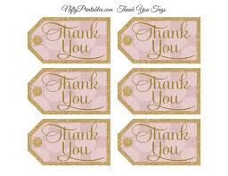 thank you tags pink thank you tags dots rect nifty printables