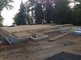 basement ceiling and first floor framework chippewa valley home
