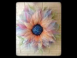 Sunflower Mesh Wreath A Noble Touch Flower Wreath Tutorial Youtube