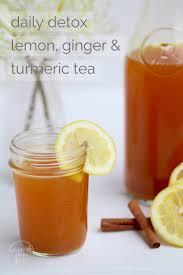 ginger daily detox lemon ginger u0026 turmeric tea nourish move love