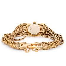 ladies gold chain bracelet images Unusual vintage ladies rolex multi chain bracelet watch jpg