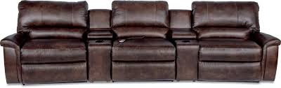 Tan Brown La Z Boy by Five Piece Reclining Home Theather Group By La Z Boy Wolf And
