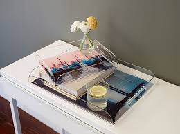 Clear Acrylic Serving and Decorative Trays