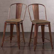 Tabouret Bistro Chair Lovable Copper Bistro Chair Tabouret Brushed Copper Wood Seat