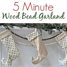 5 minute wood bead garland decor and the