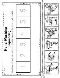 washing procedures reader poster and sequencing pocket chart