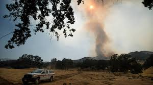 Wildfire Winters California by Wragg Fire Near Lake Berryessa Now 55 Percent Contained