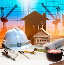 bureau d ude construction office tower and home construction plan on architect working stock